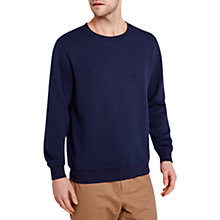 Buy HYMN Tennis Diamond Waffle-Knit Jumper, Navy Online at johnlewis.com