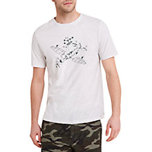 Buy HYMN Model Airplane Print T-Shirt, Ecru Marl Online at johnlewis.com