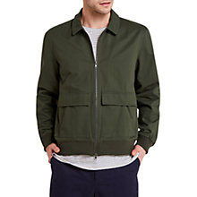 Buy HYMN Tron Harrington Jacket, Forest Green Online at johnlewis.com