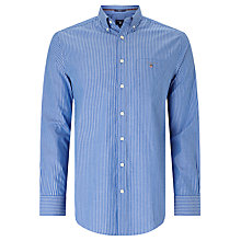 Buy Gant Broadcloth Striped Button Down Shirt, Nautical Blue Online at johnlewis.com