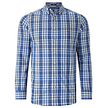 Buy Gant Tech Prep Plaid Long Sleeve Shirt, Nautical Blue Online at johnlewis.com