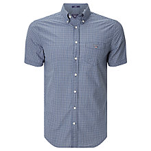 Buy Gant Indigo Gingham Short Sleeve Shirt, Indigo Online at johnlewis.com
