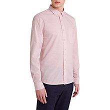 Buy HYMN Collins Slub Weave Shirt, Dusty Pink Online at johnlewis.com