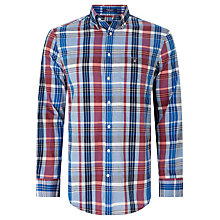 Buy Gant Madras Plaid Regular Fit Shirt, Bright Pink Online at johnlewis.com