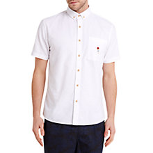 Buy HYMN Rainbow Lolly Print Oxford Short Sleeve Shirt, White Online at johnlewis.com