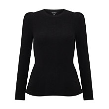 Buy Miss Selfridge Puff Shoulder Peplum Jumper Online at johnlewis.com
