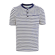 Buy John Lewis Boys' Stripe Henley T-Shirt, Blue Online at johnlewis.com