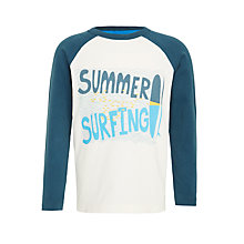 Buy John Lewis Boys' Summer Surfing T-Shirt, Cream Online at johnlewis.com
