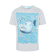 Buy John Lewis boys' Angler Fish Glow In The Dark T-Shirt, Grey Online at johnlewis.com