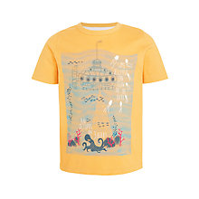 Buy John Lewis Boys' Submarine T-Shirt, Yellow Online at johnlewis.com