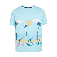 Buy John Lewis Boys' Cycling Beach T-Shirt, Blue Online at johnlewis.com