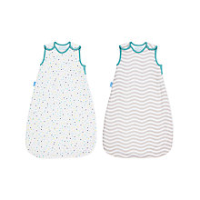 Buy Grobag Aqua Wave Wash and Wear Sleep Bag, 2.5 Tog, Pack of 2, Multi Online at johnlewis.com