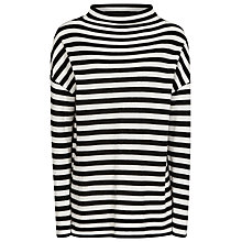 Buy Reiss Annora Jumper, Black/Off White Online at johnlewis.com