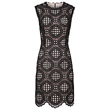 Buy Reiss Dixie Graphic Lace Dress, Black/Ash Online at johnlewis.com