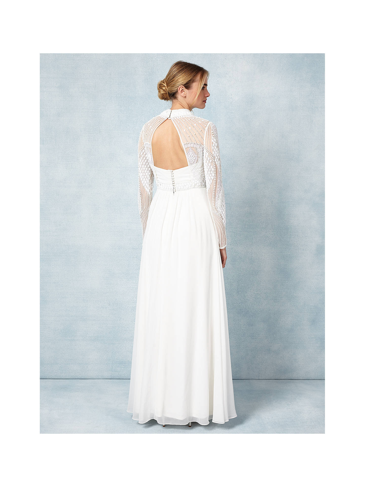 Buy Phase Eight Bridal Cadie Wedding Dress, Ivory, 6 Online at johnlewis.com