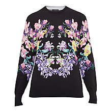 Buy Ted Baker Petii Lost Gardens Printed Jumper, Black Online at johnlewis.com