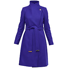Buy Ted Baker Aurore Long Wrap Collar Coat, Bright Blue Online at johnlewis.com