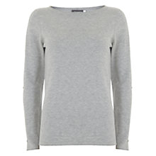 Buy Mint Velvet Cut Out Sleeve Jumper, Grey Online at johnlewis.com