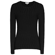 Buy Reiss Suki Long Sleeve Knit, Black Online at johnlewis.com