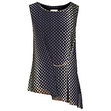 Buy Reiss Eames Printed Top, Midnight Online at johnlewis.com