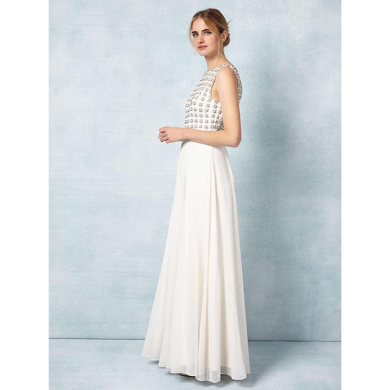 Phase Eight Bridal Caleigh Wedding Dress, Cream at John Lewis
