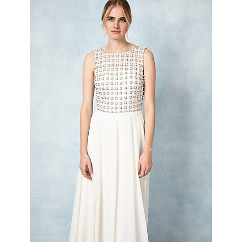 Buy Phase Eight Bridal Caleigh Wedding Dress, Cream Online at johnlewis.com