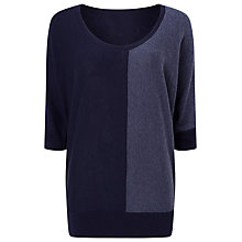 Buy Phase Eight Cadenza Colour Block Jumper, Navy Online at johnlewis.com