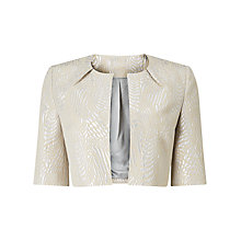 Buy Phase Eight Danita Shimmer Jacquard Jacket, Silver Online at johnlewis.com