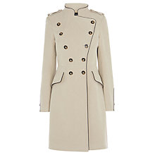 Buy Karen Millen Reefer Coat, Stone Online at johnlewis.com