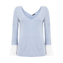 Buy Mint Velvet Fluted Cuff V-Neck Knit Online at johnlewis.com