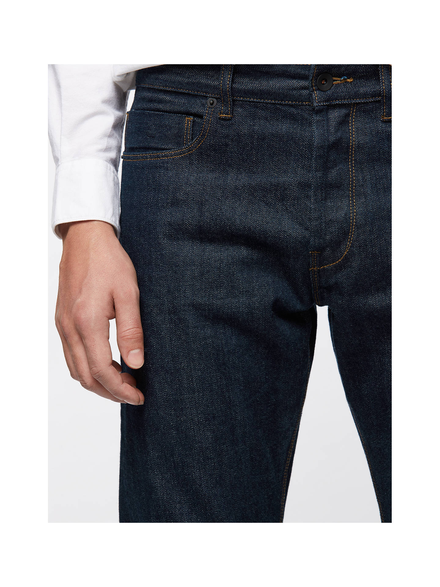 BuyJigsaw Japanese Selvedge Denim Straight Jeans, Indigo, 30R Online at johnlewis.com