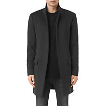 Buy AllSaints Fido Wool-Blend Overcoat, Charcoal Grey Online at johnlewis.com
