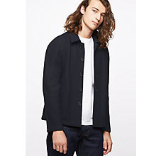 Buy Jigsaw Italian Double Faced Jacket, Navy Online at johnlewis.com