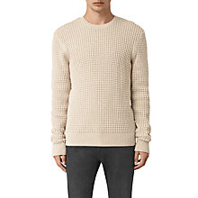 Buy AllSaints Kargg Crew Neck Jumper, Ecru Taupe Marl Online at johnlewis.com