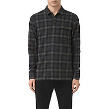 Buy AllSaints Hobart Long Sleeve Shirt, Black Online at johnlewis.com