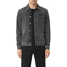 Buy AllSaints Struan Denim Jacket, Grey Online at johnlewis.com