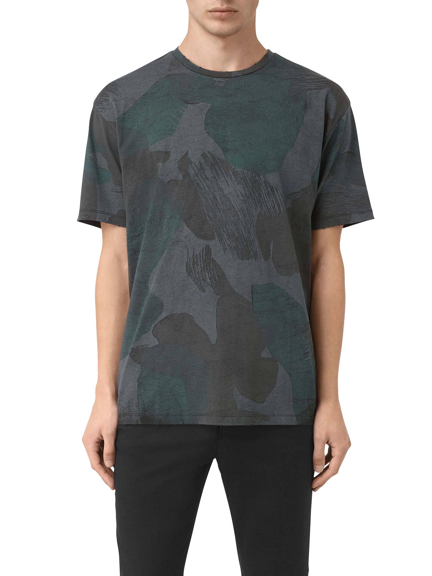b8eef1c0 Buy AllSaints Smock Camo T-Shirt, Ink Navy, XXS Online at johnlewis.