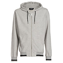 Buy Diesel Allison Zip Hoodie, Light Grey Melange Online at johnlewis.com