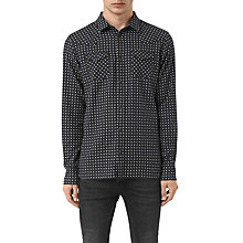 Buy AllSaints Tahoe Mini-Print Slim Shirt, Grey Marl Online at johnlewis.com
