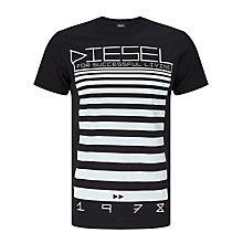 Buy Diesel T-Diego-OD 'For Successful Living' T-Shirt, Black Online at johnlewis.com