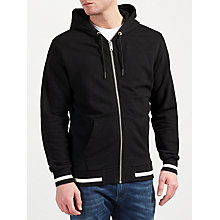 Buy Diesel S-Allison Full Zip Cotton Hoodie, Black Online at johnlewis.com