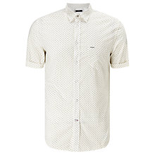 Buy Diesel S-Dusk Short Sleeve Check Shirt, Chinchilla Online at johnlewis.com