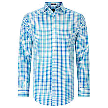 Buy Gant Gingham Cotton Oxford Shirt, Nautical Blue Online at johnlewis.com
