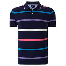 Buy Gant Multi Stripe Cotton Polo Shirt, Navy/Multi Online at johnlewis.com
