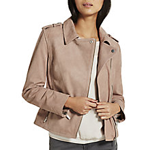 Buy Mint Velvet Nubuck Biker Jacket Online at johnlewis.com