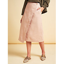 Buy Modern Rarity Linen Wrap Skirt, Pink Online at johnlewis.com