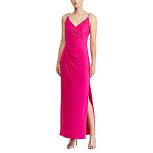 Buy Lauren Ralph Lauren Beaded Jersey Dress, Pink Roseate Online at johnlewis.com