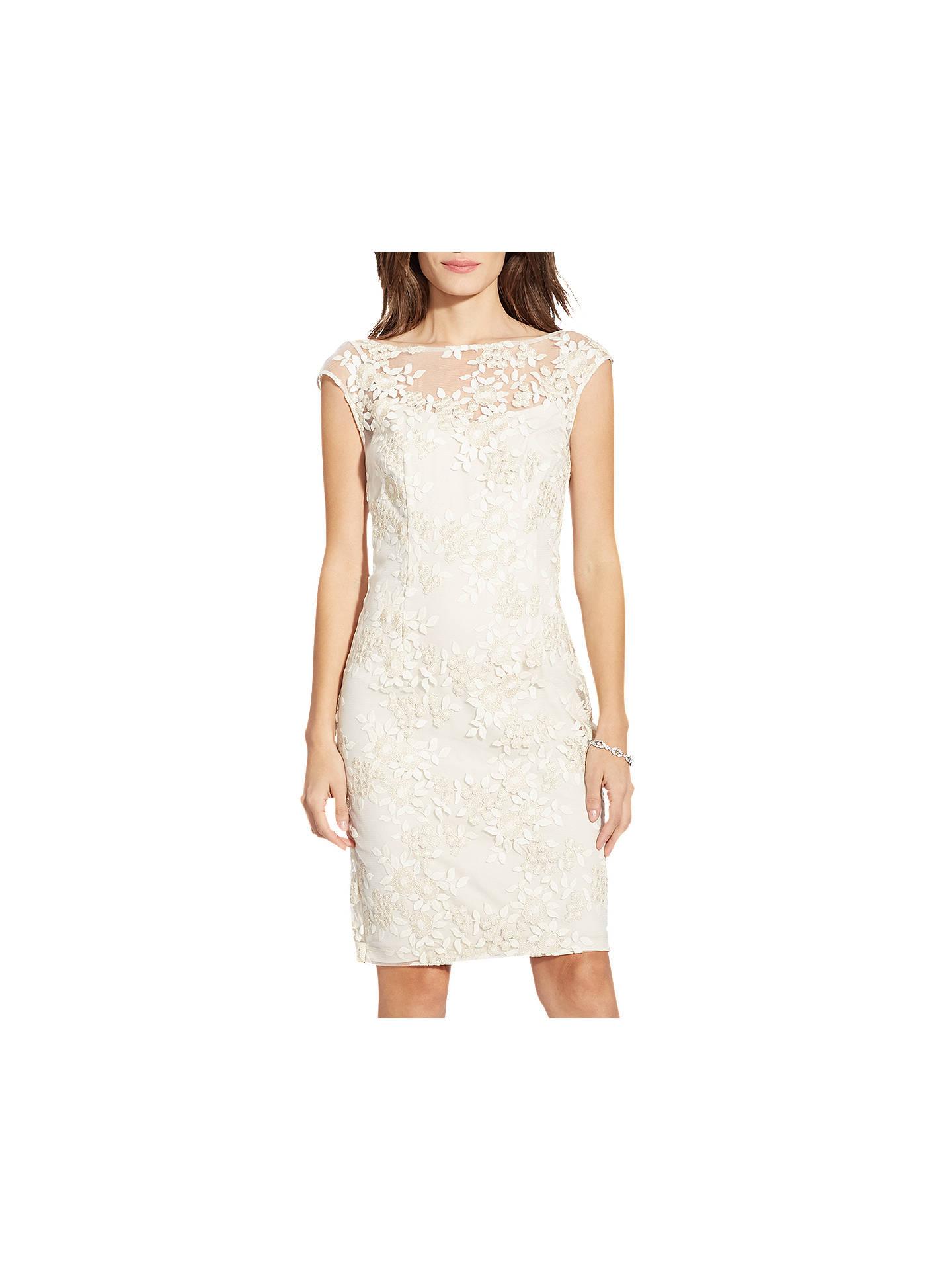 d4b3d6fc143b Buy Lauren Ralph Lauren Lace Floral Dress, Ivory/Gold, 12 Online at  johnlewis ...