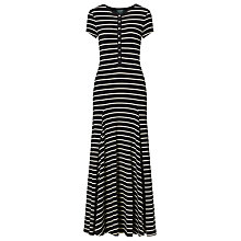 Buy Lauren Ralph Lauren Stripe Maxi Dress, Polo Black/Herbal Milk Online at johnlewis.com