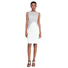 Buy Lauren Ralph Lauren Lace Applique Sheath Dress, Ivory/Zinc Online at johnlewis.com